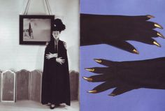Elsa Schiaparelli, gold-claw gloves, 1938