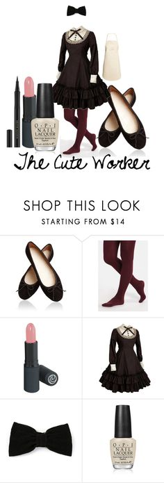 """""""The Cute Worker"""" by sparklyartist ❤ liked on Polyvore featuring Maison Michel, OPI and H&M"""