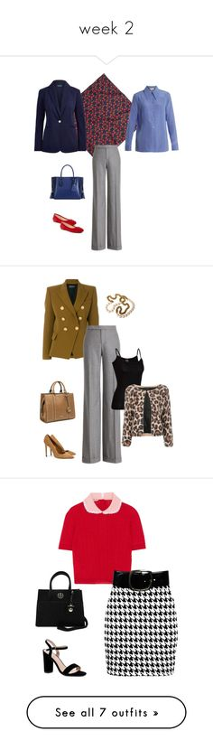 """week 2"" by cokie61 on Polyvore featuring J.Crew, Gucci, Ralph Lauren Collection, Ralph Lauren, Longchamp, Vince Camuto, Balmain, Nine West, Icebreaker and SUNO New York"