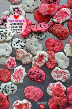 Valentine's Chocolate Covered Pretzel Chips | MarlaMeridith.com