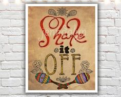 """Shake It Off"" PAPER PRINT - typography wall art. TITLE - SHAKE IT OFF (signed archival giclee print on acid-free cotton paper. white border for framing purposes as pictured.) Remember when you were little and would fall off your bike and before you even realized you were in pain you would just start screaming and crying and carrying on? I'm sure most kids have been told at least once to ""shake it off."" So why not now, as adults, when something bad happens and you convince yourself that…"