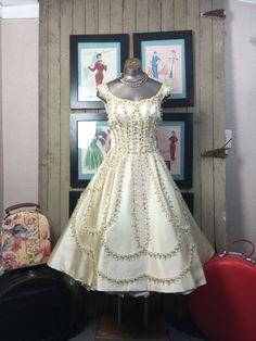 1950s dress Ceil Chapman dress 50s beaded dress size by melsvanity