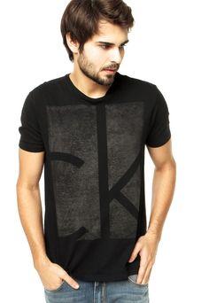 029c60f6b985a Camiseta Calvin Klein Jeans Preta - Compre Agora   Dafiti Brasil Camisetas  Masculinas, Camisetas Gospel