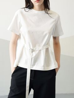 #AdoreWe StyleWe Short Sleeved Tops - Zijue Plain Short Sleeve Simple Short Sleeved Top - AdoreWe.com