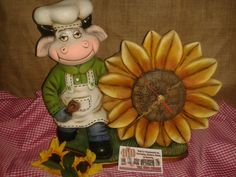 Fondant, Clock, Country, Ceramic Painting, Cold, Cow Painting, Backyard Chickens, Painted Pottery, Cows