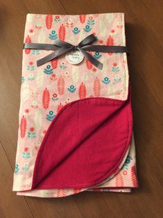 Pink and Red Aztec Double Sided Flannel by DefinitelyBabyShop