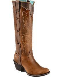Corral Kats Natural Westport Cowgirl Boots - Round Toe, Natural