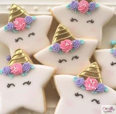 desserts recipes cookies shower sugar ideas baby new 61 Baby shower desserts recipes sugar cookies 61 New ideas Fancy Cookies, Iced Cookies, Cute Cookies, Cupcake Cookies, Star Sugar Cookies, Cookie Favors, Iced Sugar Cookie Recipe, Royal Icing Decorated Cookies, Fondant Cookies