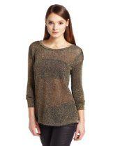 Bardot Womens Lurex Tunic Sweater