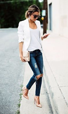Best 101 Style Blazer Outfit Ideas If somebody wants to appear classy and be… Looks Chic, Looks Style, Fashion Mode, Look Fashion, Fashion Ideas, Ladies Fashion, Fashion Clothes, Street Fashion, Fashion Trends