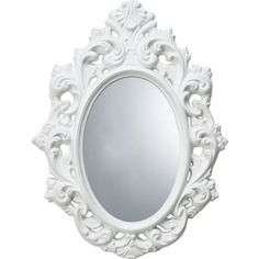 Home of Style Rococco Oval Mirror - White from Homebase.co.uk, £50