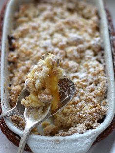 Apple-Crumble and easy food recipes snacks Apple-Crumble — Maria, es schmeckt mir! Healthy Dessert Recipes, Health Desserts, Healthy Baking, Baby Food Recipes, Smoothie Recipes, Healthy Snacks, Oreo Desserts, Easy Desserts, Pudding Desserts