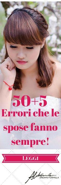 50+5 Errori che le spose fanno sempre