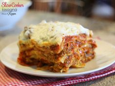 Slow Cooker Lasagna - this is one of my favorite easy crock pot recipes