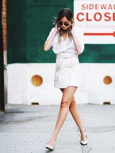 Thêm yêu mùa hè nhờ phối chân váy và giày