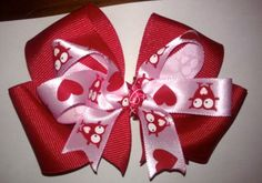 Cute Valentine's Hair bow