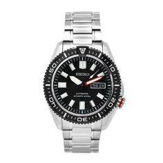 Seiko Herren-Armbanduhr XL Divers Analog Quarz Edelstahl beschichtet SKZ325K1 EUR 332,10