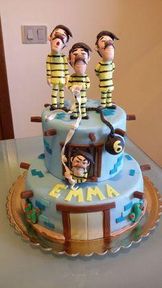 l'evasione dei fratelli Dalton Lucky Luke, Disney Cartoons, Birthday Parties, Cakes, Desserts, Cake Ideas, Food, Google, Embroidery
