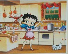 Betty Boop en la cocina