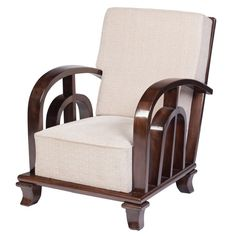 Art Deco Walnut Club Chair by Kozma Lajos