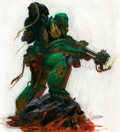 Salamander with Flamer Warhammer 40k Salamanders, Salamanders Space Marines, Warhammer 40k Rpg, Character Art, Character Design, Dragon Warrior, The Grim, Dark Ages, Decoration
