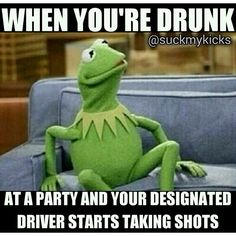 This happened to me in college!! And then we crossed state lines... And she got pulled over... Thank god I was in the backseat!!!