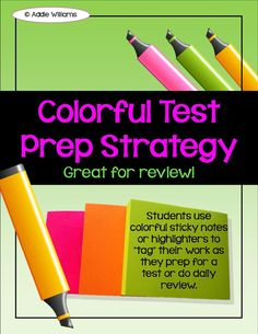 Addie Education - Teacher Talk: Test Prep Ideas With Sticky Notes