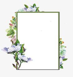 手绘紫色花朵方框边框