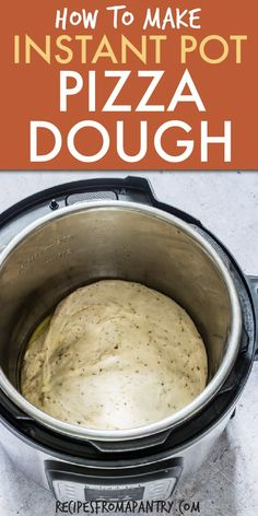 can now make Instant pot pizza dough. Proof dough in your pressure cooker and make delicious and flavourful pizza by using this Chilli and Herb Pizza Dough recipe for your crust! Load on your desired toppings for the perfect pizza night. Best Instant Pot Recipe, Instant Recipes, Instant Pot Dinner Recipes, Instant Pot Pressure Cooker, Pressure Cooker Recipes, Perfect Cooker Recipes, Multi Cooker Recipes, Instant Cooker, Herb Pizza Dough Recipe