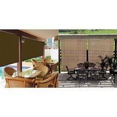 Sun Shade Roller Canopy Exterior Cordless Garden Balcony Porch 8 x 6 ft Mocha #OutdoorAccessories