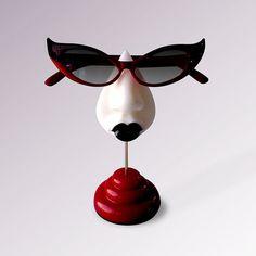 Goth eyeglass stand table top decor women's eyewear accessories decorative arts housewares on Etsy, $40.00
