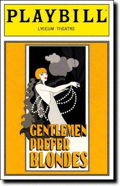 Gentlemen Prefer Blondes at the Lyceum Theatre. April 1995.