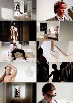 Take important moment photos and lay out like this. Not a story board, but conveys a story. American Psycho - Cinematography by Andrzej Sekuła Cinematic Photography, Film Photography, Scary Movies, Great Movies, Film Inspiration, Photoshoot Inspiration, Fritz Lang, Light Film, Digital Film