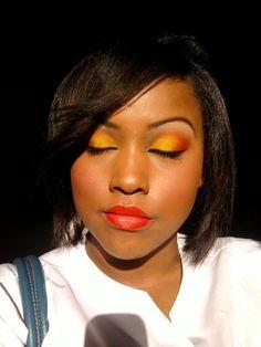 Yellow and orange eyeshadow - sunrise for the eyes.