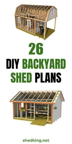 Easy DIY Backyard Shed Plans If you need a backyard shed DIY with these easy … Shed Building Plans, Diy Shed Plans, Dyi Shed, 10x12 Shed Plans, Barn Plans, House Building, Building Ideas, Backyard Sheds, Outdoor Sheds
