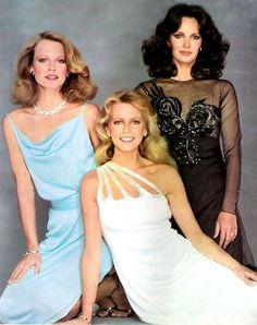 Jaclyn Smith, Cheryl Ladd, and Shelley Hack in Charlie's Angels Cheryl Ladd, Prom Dresses, Formal Dresses, Wedding Dresses, Shelley Hack, Season 4, Girl Photos, Girl Power, Movie Stars