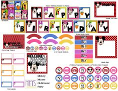 Mickey Mouse Clubhouse Birthday Party Decorations Free Printable Signs