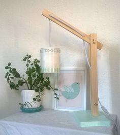 (Déjà Vendue !) Lampe de table/Lampe de bureau esprit Scandinave couleur Mint articulée : Luminaires par twiggy-shop