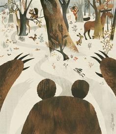 Along Came A Bear, an art print by Greg Abbott                                                   - INPRNT