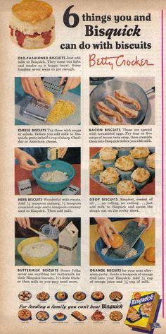 Bisquick Bisquick Recipes Biscuits, Cheese Biscuits, Baked Cheese, Biscuit Recipe, Quick Biscuits, Baking Biscuits, Recipe Box, Retro Recipes, Old Recipes