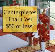Great blog on centerpieces that look expensive but that is affordable! Definitely worth the ideas and pictures to go