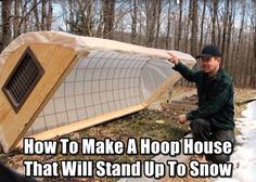 How To Make A Hoop House That Will Stand Up To Snow Hoop house growing vegetables in the cold months fall winter gardening snow season greenhouse green house tunnel row covers Greenhouse Plans, Greenhouse Gardening, Gardening Tips, Vegetable Gardening, Organic Gardening, Veggie Gardens, Greenhouse Wedding, Greenhouse Shelves, Cold Frame Gardening