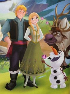 Kristoff, Anna. Olaf, Sven