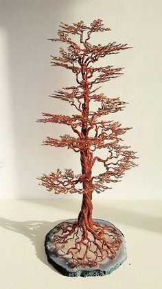 "Discover thousands of images about Arbre de Vie ""Stairway to Heaven"" sculpture cuivre Metal Tree Wall Art, Metal Art, Ming Tree, Sculptures Sur Fil, Art Fil, Copper Wire Art, Bonsai Wire, Wire Tree Sculpture, Wire Trees"