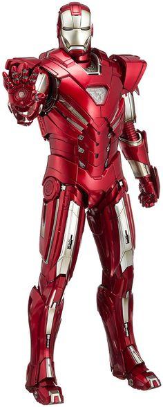 "Amazon.com: [Movie Masterpiece ""Iron Man 3"" 1/6 Scale Action Figure Iron Man Mark 33 (Silver Centurion) (secondary shipments): Toys & Games"