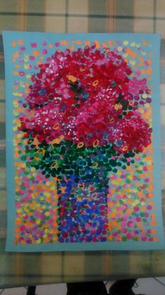 32 Super Ideas For Flowers Art Painting Abstract Inspiration Projects For Kids, Art Projects, Finger Art, 6th Grade Art, Flowers Vase, Painting Flowers, Drawing Flowers, Painting Art, Painting Abstract