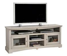 Mobile Tv in legno massello di noce, stile classico con ante e ...