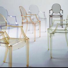 Tinted acrylic chairs