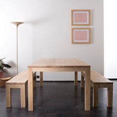 Ethnicraft Oak Straight dining table 160 - Curious Grace