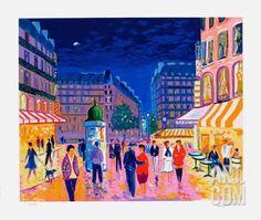 Soir de Paris Serigraph by Jean-claude Picot at Art.co.uk